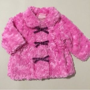 Infant Girls Fuzzy Coat